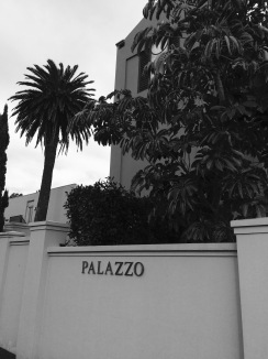 This is as you're walking past our house. I guess the group of homes is considered the Palazzo. We're the front unit, so that wall is part of our courtyard.