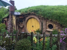 A close up of a Hobbit Hole.