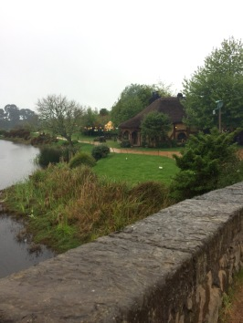 View of the Green Dragon, the pub of Hobbiton.